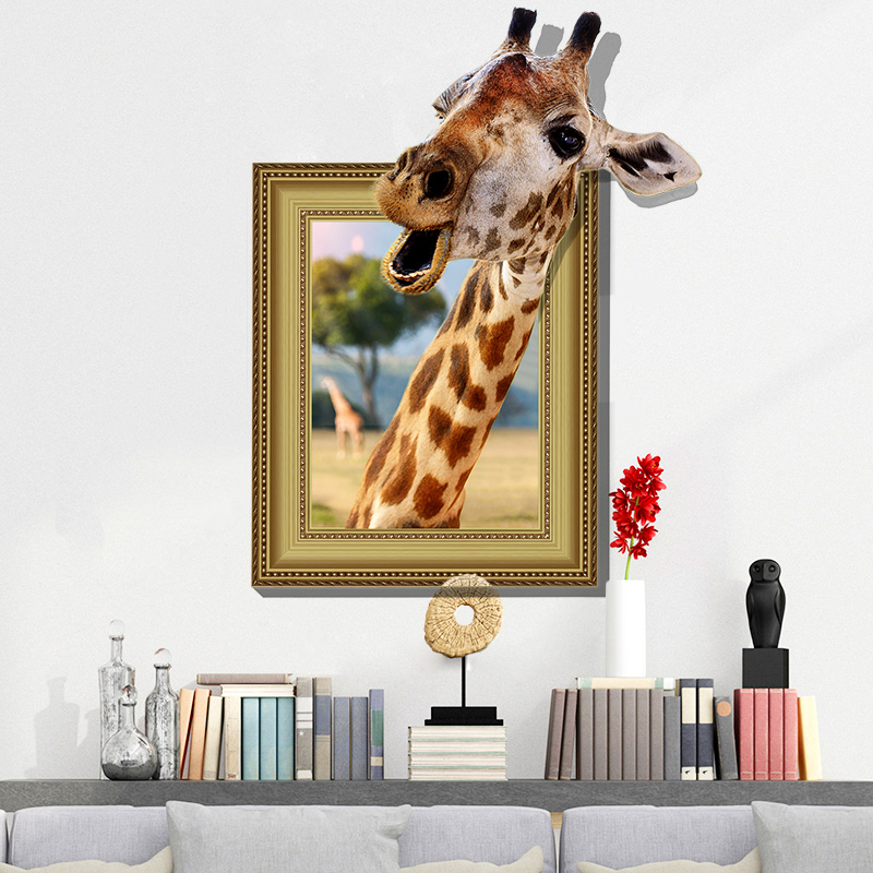 Wholesale Custom Printing Decorative Waterproof 3d Animal Series Bedroom Office Wallpaper , Floor Ground Wall Sticker