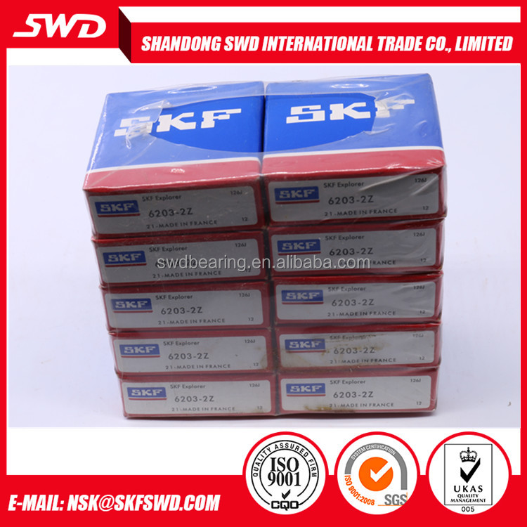 17x40x12 mm made in France Original SKF Ball Bearing 6203