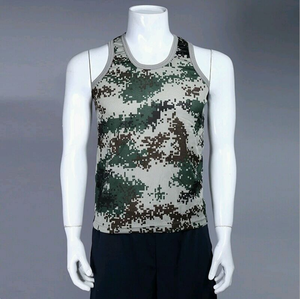 Mens camouflage workout tank gym wear training tank top