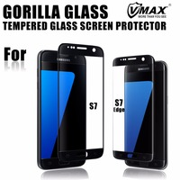 2016 New! Hot 3D 9H 0.2mm Gorilla Tempered Glass Screen Protector for Samsung Galaxy S7 edge