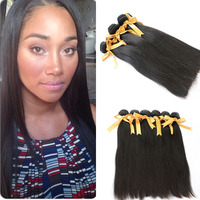 Wholesale Black Beauty Supply 100% Brazilian Straight Human Hair Extension