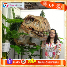 SH-RD698 High Quality Silicone Rubber Animatronic Dinosaur T-rex Head