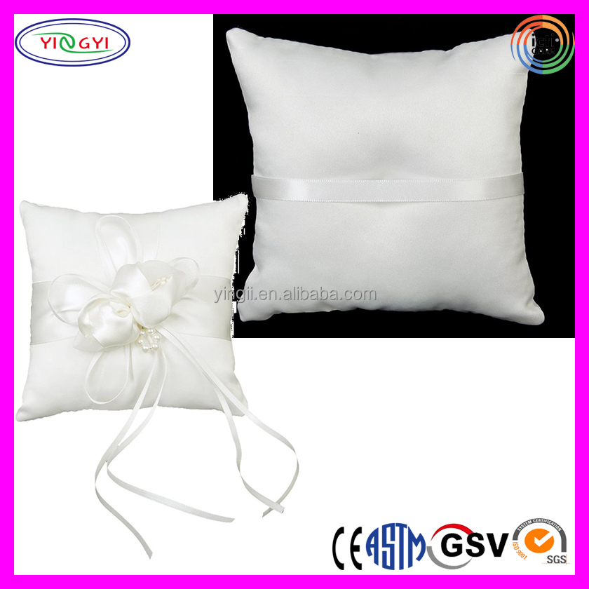 E130 Bridal Wedding Ceremony Pocket Ring Pillow Cushion Bearer Ribbons Wedding Ring Pillow