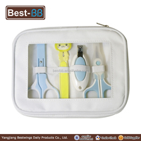 scissors handle plastic cover and foot file in baby manicure set