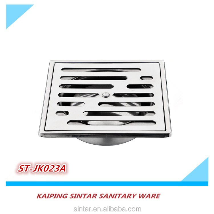 Household square stainless steel lavatory shower concrete floor drain