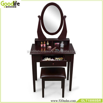 Wooden vanity dressing table cheap chinese furniture