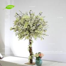 GNW CTR1605012-002 Customized white cherry blossom magnolia party centerpieces decoration wedding