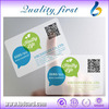 Durable Transparent Business Cards With QR Code