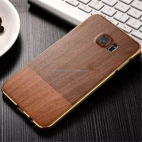 Newest Luxury real wood bamboo mobile phone case for iphone 6, wood metal case for iphone 7