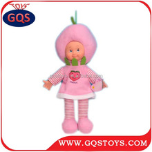 14-INCH DOLL MUSICAL FRUIT COTTON DOLL FOR BABY (PINK PEACH)