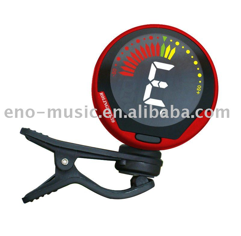 ENO Clip on Guitar Tuner with Colorful LCD Display for Violin Bass Ukulele Guitar Chromatic Tuner