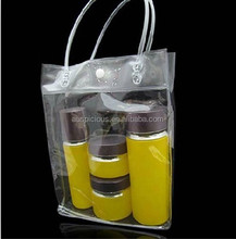 Professional PVC soft pouch bag with round tube handle