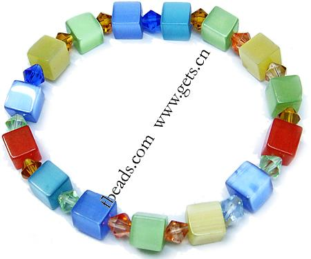 2015 Gets.com mixed colored cats eye 8mm 6mm ccrystal bracelets
