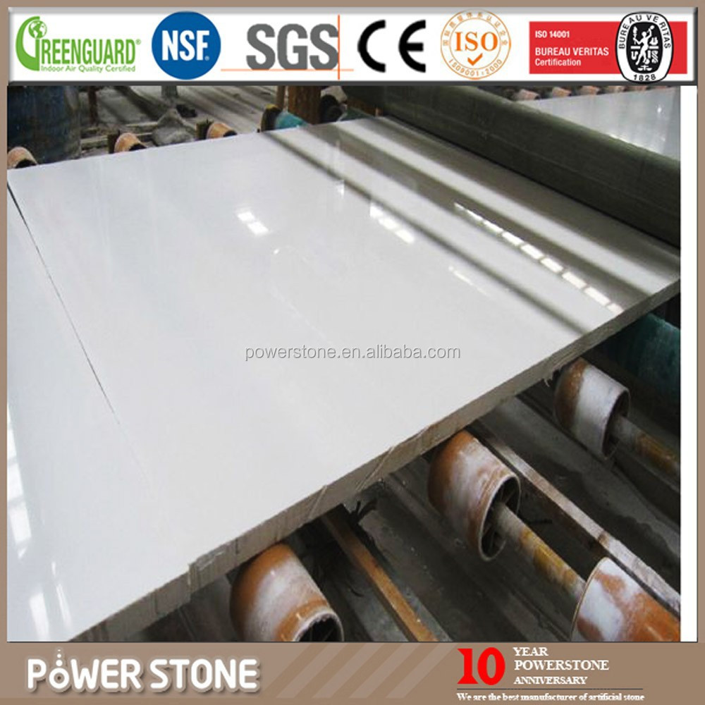 Popular Sales Milky White Artificial Marble Slab