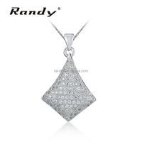 Fashion Zircon Jewelry 925 Sterling Silver Pendant Necklace