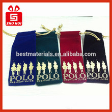 factory direct manufacture luxury high quality end black velvet gift bags pouch