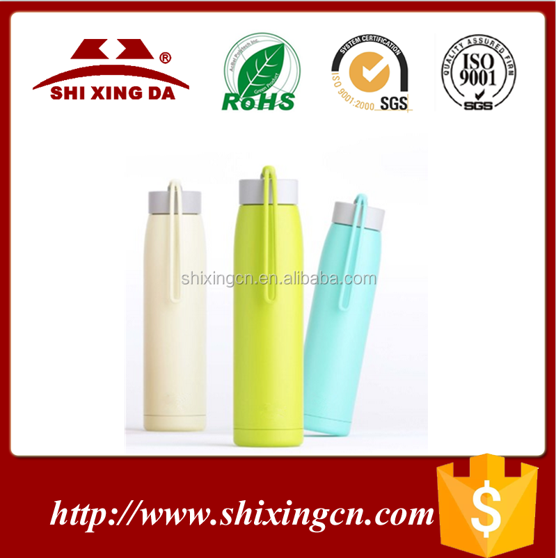 ABS+Silicone+stainless steel 320ml colorful water bottle