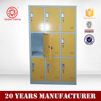 Children furniture for kindergarden storage metal 9 door mini metal locker
