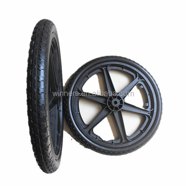 Solid Tire PA Nylon Rim Wheelchairs wheel 20''