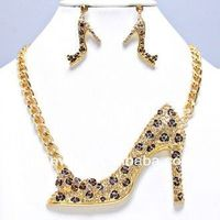 Long Chain Style Cute Milk Yellow Elephant Head Necklace