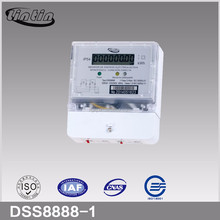 DDS8888 1P3W electronic LCD type with transparent short terminal cover kWh meter/energy meter/electricity meter/smart meter