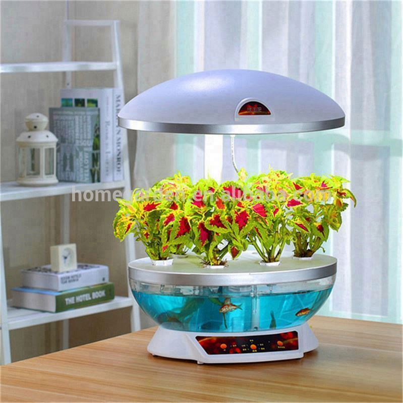 2014 Christmas gifts ! MOCLE fish tank is a garden centre To fish grow vegetables as a table lamp