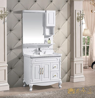 Modern Style White Finish Wall Mounted PVC bathroom cabinet/vanity/furniture(EAST-25109)