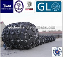 Marine floating dock rubber fenders