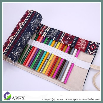 Travel Drawing Canvas Roll Pouch Case Hold for Pencil Crayon