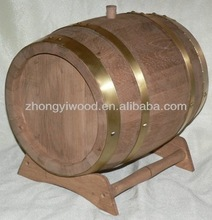 soild wooden wine barrels with foil bags