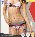 Western sexy colorful triangle nylon spandex bikini swimsuits.