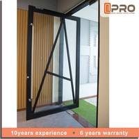 aluminum main entrance door safety door design with grill for sale