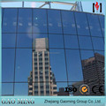 Hidden Frame Glass Curtain Wall with Low-E Double Glazing Glass for sale