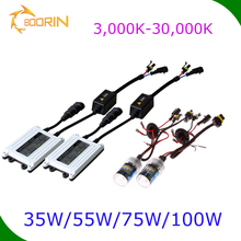 2017 factory price hid xenon kit slim ballast 35w/55w/75w xenon bulb 5000k 8000k 3000k 100w hid driving light in car auto parts