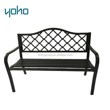 Outdoor furniture garden park bench with park bench slats for park steel bench