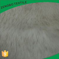 Wholesale polyester long pile faux fur knitting plush fabric for garment from Chinese factory