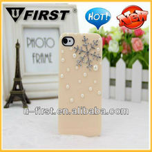 3D Bling Crystal Christmas Snowflake Diamond Case Cover For iPhone 5,For Samsung phone case