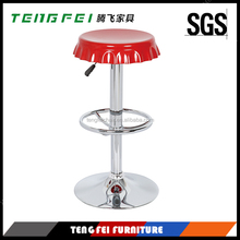 ABS plastic stool/Modern design,With 330 hight gas lift and 385mm chroming base