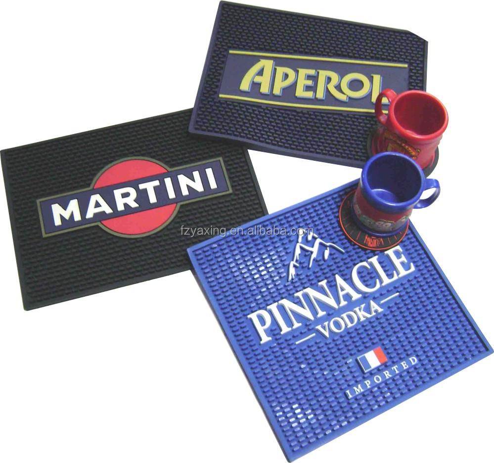Personalized Logo Rubber Bar Spill Mats Buy Rubber Bar