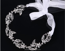 2017 Beautiful High-grade pure white Bride <strong>headband</strong> for women with rhinestones Hair bands head band <strong>headbands</strong> headdress HA-482