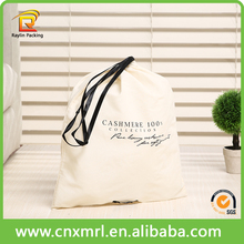 Custom Cheap Printed Logo Cotton Drawstring Bag Camera Bag Backpack