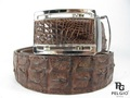 Genuine Crocodile Skin Belt 46 inch Brown