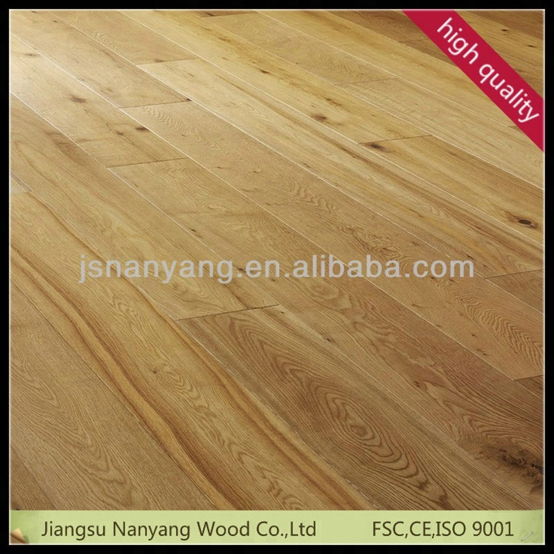 <strong>3</strong>-<strong>layer</strong> 1-strip Russia <strong>Oak</strong> Factory knotty grade engineered wood flooring for sale