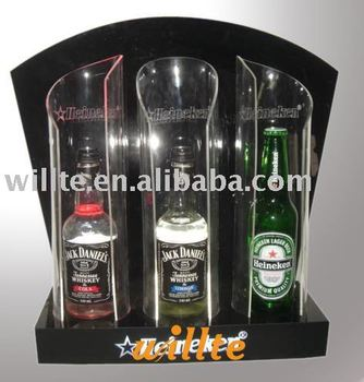 acrylic wine bottle stand