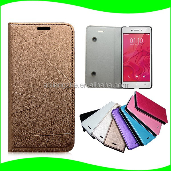 Luxury Ultra Thin Leather Mobile Phone Flip Case Cover for OPPO R9 S Plus Smart Phones
