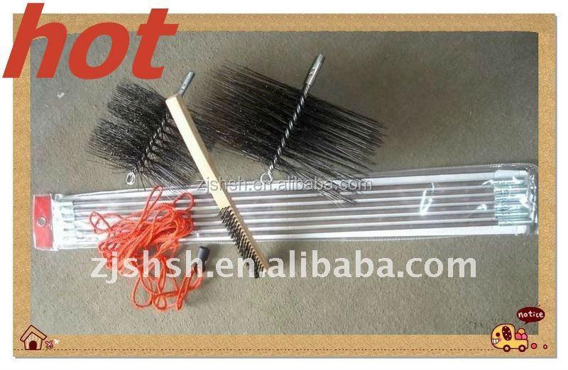 Seis pulgadas ronda deshollinador limpieza kit cepillos de for Cepillo deshollinador chimeneas