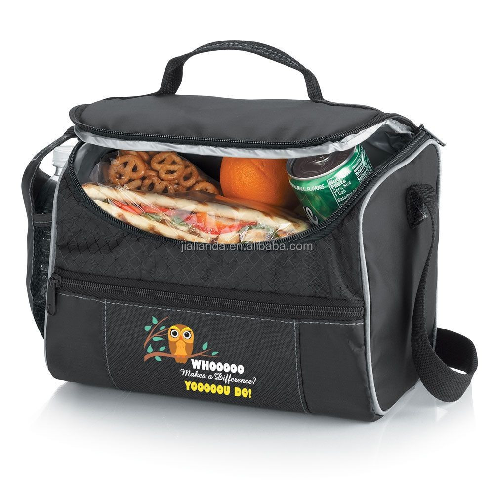 210D polyester freezable shoulder and tote lunch cooler bag JLD747