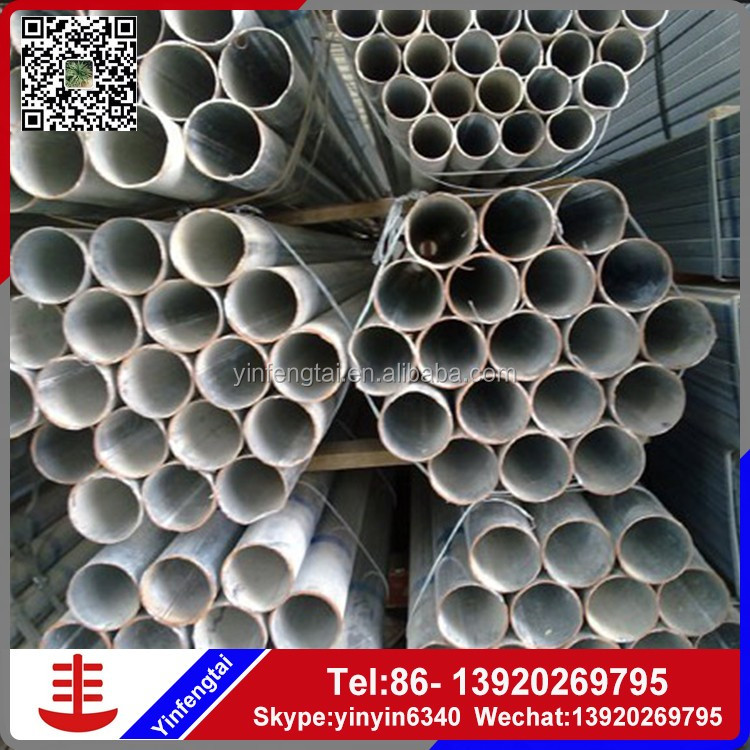 DIFFERENT SIZE ROUND HR GALVANIZED STEEL PIPE with large diameter