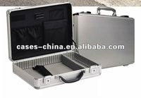 Mens aluminum briefcase/attache case with laptop belt and locks