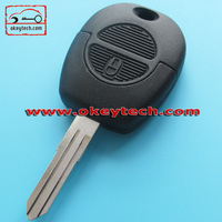 Hot Sale Auto N issan Remote key 2 button key shell NSN14 for N issan car key case